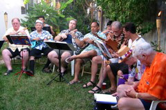 Kolohe Ukulele Band at Gile and Lori's Lu'au